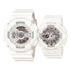 Casio G-Shock GA-110BC-7A And Baby-G Couple BA-110-7A3 Resin Strap Watch White (Int: One Size)