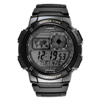 Casio Jam Tangan AE-1000W-1BVDF - Hitam/Silver