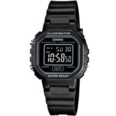 Casio #LA20WH-1B Women's Black Chronograph Alarm LCD Digital Watch
