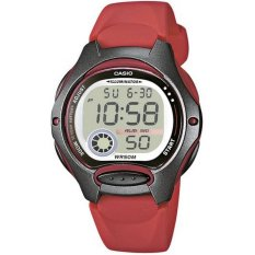 Casio Women's LW-200-4AVDF Casio Collection Digital Quartz Red Resin Watch- Intl