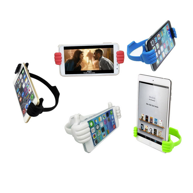 CatWalk New Adjustable Thumb Post Holder Bracket Mount for Mobile Phones Tablet (White) (Intl)
