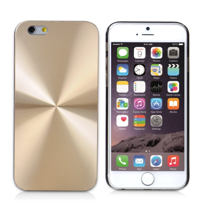 CD Line Patten Glare Case Cover for Apple iPhone 6 Plus/ 6s Plus (Gold) (Intl)