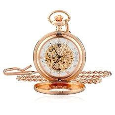 Charles-Hubert, Paris Rose Gold-Plated Mechanical Pocket Watch (Intl)