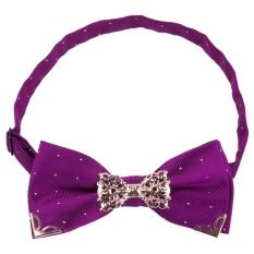 Chic Men Suit Metal Decorated Bow Tie Business Accessories - T59 (Purple)