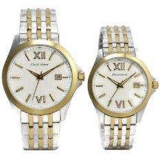 Christ Verra Jam Tangan Couple Gold Silver Stainless Steel CV70139G-13&CV7140L-13