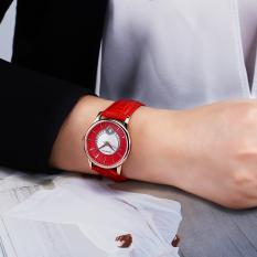 CITOLE OCHSTIN Premium Brand Fashion Waterproof Female Watch Steel Band Quartz Ms. Calendar (Red) (Intl)