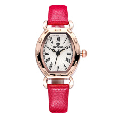 CITOLE SKONE 2016 Thin PU Leather Strap Rose Gold Watches Women Analog Quartz Mvmt Watch Woman Fashion Casual Ladies Relogio Feminino (Beige)