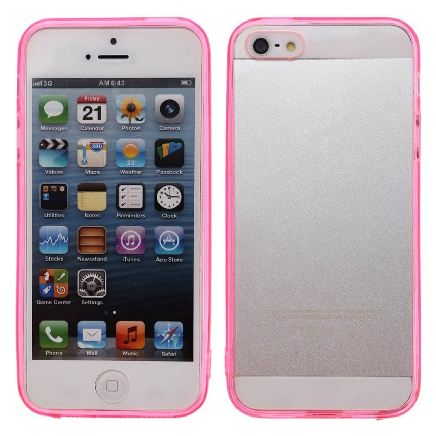 Clear Acrylic Back Cover Case for iPhone SE / 5S / 5 (Rose Red)
