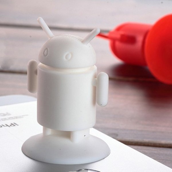 Clothingloves Silicone Cute Mini Robot Mobile Phone Bracket Random Color