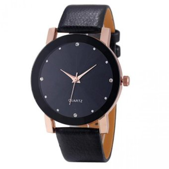 CoconieyLuxury Quartz Sport Military Stainless Steel Dial Leather Band Wrist Watch Rose Gold Free Shipping