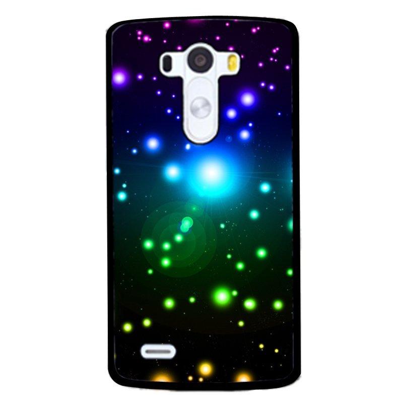 Colorful Bling Light Spot Pattern Phone Case for LG G4 (Black)