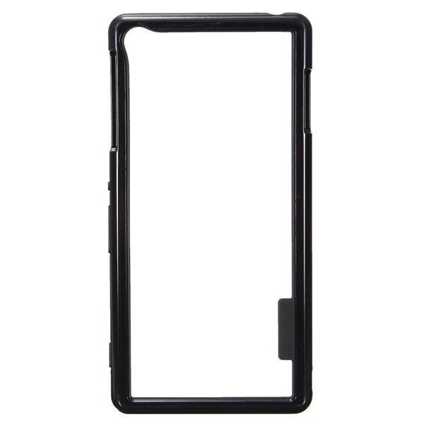 Colorful Flexible Glossy Hybrid Bumper Case Cover Skin For Sony Xperia Z3 Black