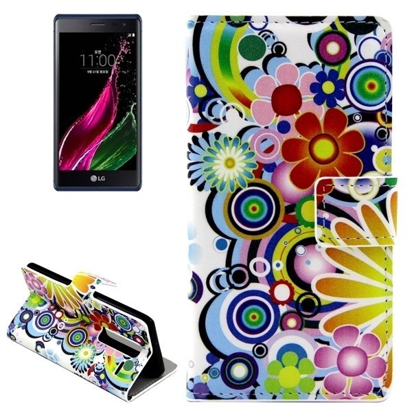 Colorful Flowers Patterns Leather Flip Cover for LG Class/LG Zero (Multicolor) (Intl)