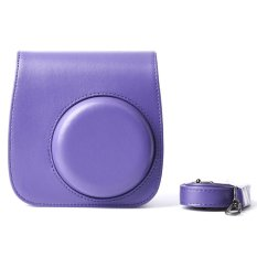 Compact Cute Lovely PU Leather Protective Camera Bag Carrying Case Pouch Cover Protector Vintage W / Shoulder Strap Album Pocket For Fujifilm Instax Mini 8 + / 8s / 8
