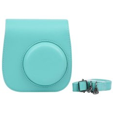 Compact Cute Lovely PU Leather Protective Camera Bag Carrying Case Pouch Cover Protector W / Shoulder Strap Album Pocket For Fujifilm Instax Mini 8 + / 8s / 8 Camera