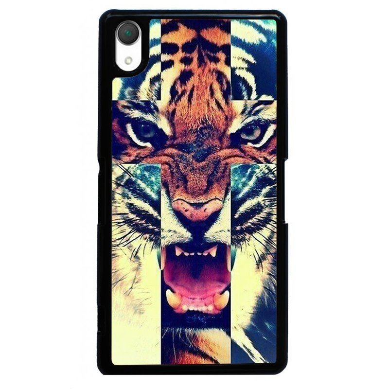 Cool Roaring Tiger Painting Phone Case for SONY Xperia Z4 (Black)