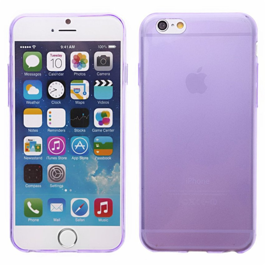 Crystal Soft Back Case for iPhone 6 (Violet)