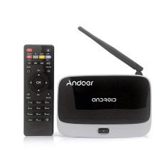 CS-918.1080P Smart Android 4.4 TV Box Rockchip RK3128 Quad Core ARM Cortex A7 1.3 GHz 2G / 16G H.265 XBMC DLNA Miracast Airplay WiFi Bluetooth 4.0 OTG TF Card Slot External Antenna With Remote Controller