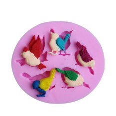 Cute Birds Silicone Fondant Cake Molds Chocolate Mould Kitchen Baking Tools
