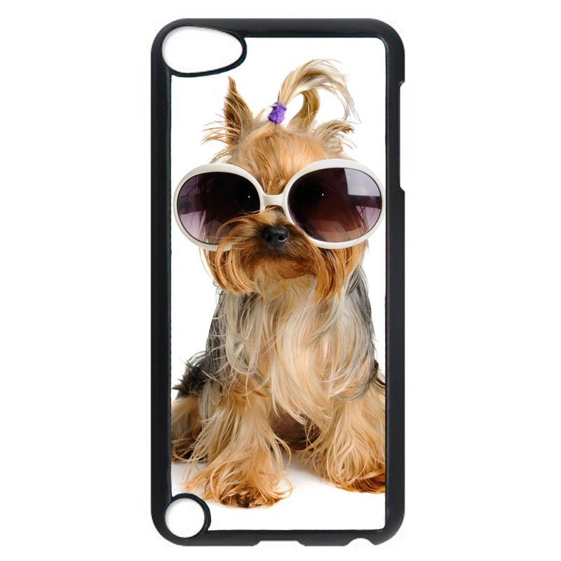 Cute Dog With Sunglasses Phone Case for iPod Touch 5 (Black)