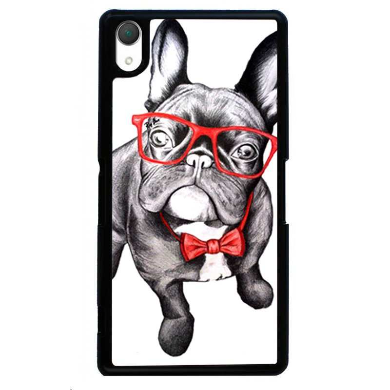 Cute Pug Dog Printed Phone Case for SONY Xperia Z3 (Black)