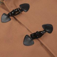 Cyber Finejo Women Fashion Casual Loose Hooded Short Batwing Sleeve Wool Blend Coat (Intl)