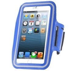 Cycling Running Mobile Sport Adjustable Strap Arm Band Case Cover For IPhone 6 6S (Blue)