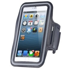 Cycling Running Mobile Sport Adjustable Strap Arm Band Case Cover For IPhone 6 6S Plus (Grey) (Intl)