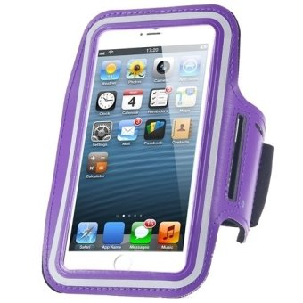 Cycling Running Mobile Sport Adjustable Strap Arm Band Case Cover For IPhone 6 6S Plus (Purple)