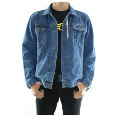 D1NY Collection Jaket Denim Jeans Ariel Pria Biru Bio Blitz