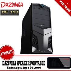 Dazumba PC Case DE-310 With PSU 380W + GRATIS Dazumba Speaker Portable AudioPAD DAG-08 - Hitam