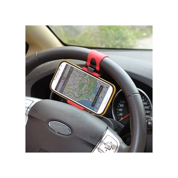 Delcell Universal Car Holder Penyangga Gadget Steering Wheel - Hitam