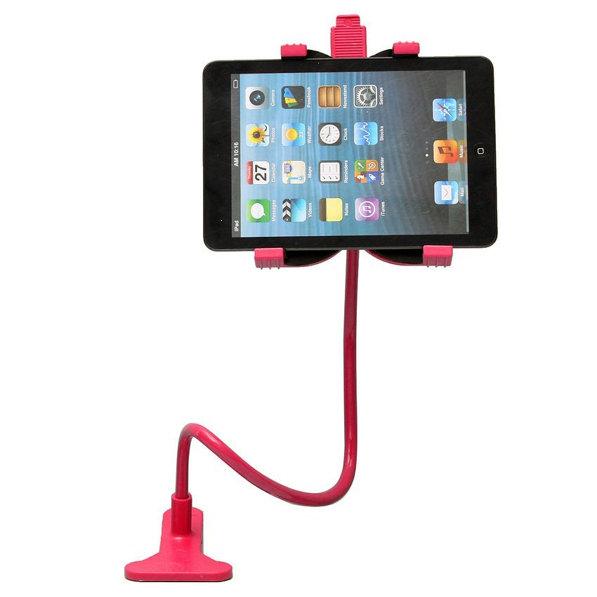 DHS. 360 Rotating Desktop Stand Lazy Bed Tablet Holder Mount for iPad, iPhone (Red) (Intl)