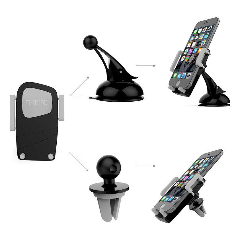 DHS 360° Car Windshield Dashboard Air Vent Mount Cradle Holder for Mobile Phone GPS (Intl)