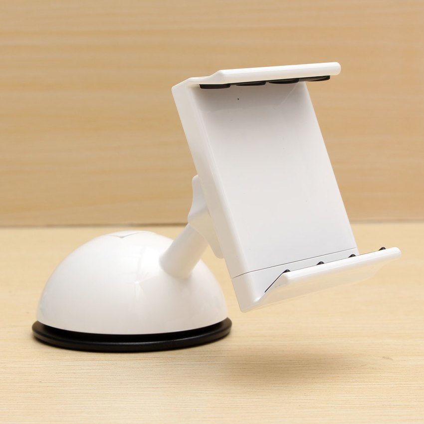 DHS Rotating Car Mount Dashboard Cradle Holder Stand for iPhone Samsung GPS (White) (Intl)