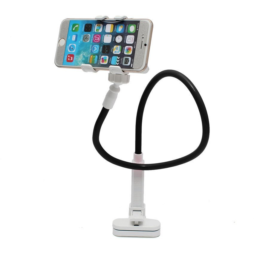 DHS Telescopic Plastic Clamp Holder Cradle Stand Mount For Mobile Smart Phone Tablet Black (Intl)