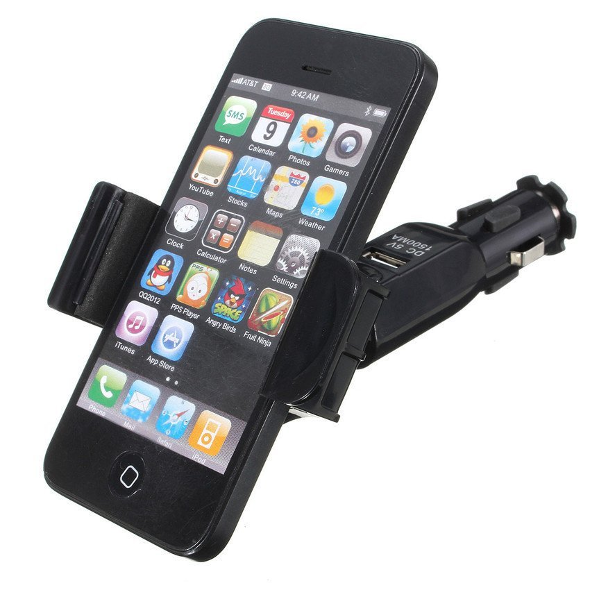 DHS Universal 360° Rotating Auto Car Stand Mount Holder Charger for Smart Phone (Intl)