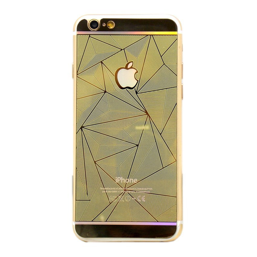 Diamond Tempered Glass Diamond for I-Phone 4G - Gold