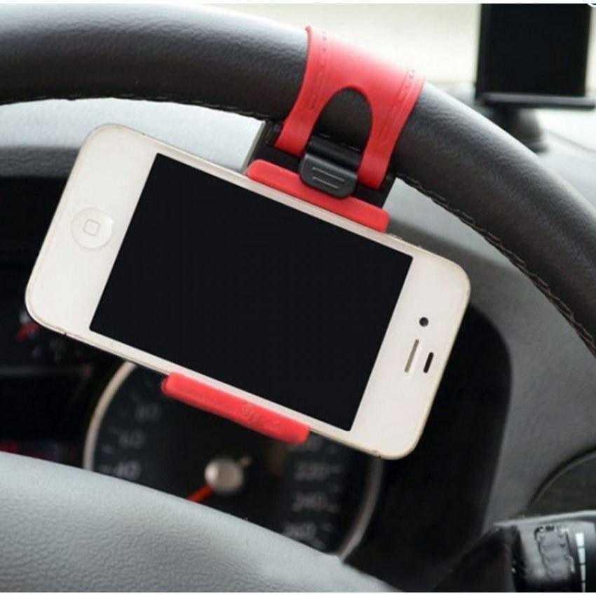 Dlinez Stir Mobil Holder - Steering Wheel Phone Socket Holder
