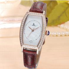 Dmscs IK Apa Qi New Diamond Female Table Steel Quartz Watch Ladies Watch Fashion Watch 98454L2 (Brown)