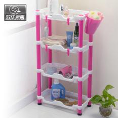 Double Celebration Kitchen Multifunction Square Shelf Corner Shelf - Four (7010)