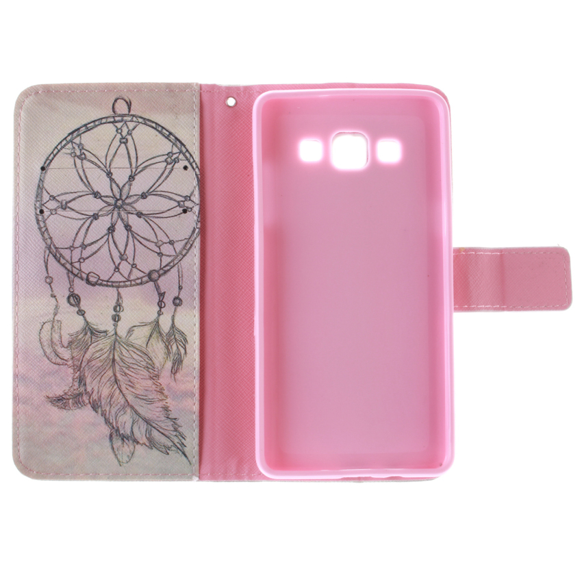 Dreamcatcher Double Painting Filp Leather Cover for Samsung Galaxy A3 (Multicolor) (Intl)