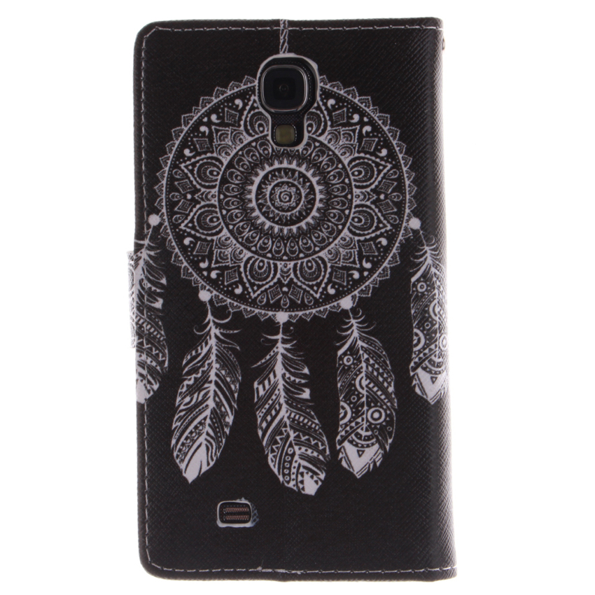 Dreamcatcher Double Painting Filp Leather Cover for Samsung Galaxy S4 (Black) (Intl)