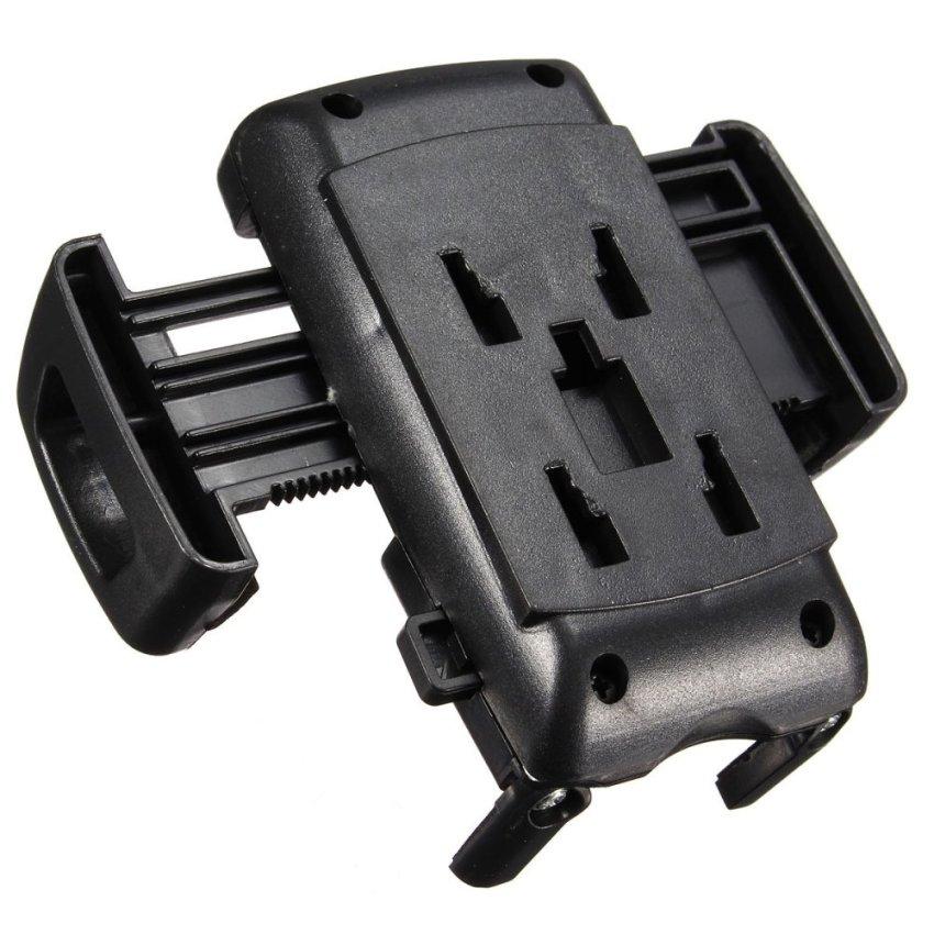 Dual 2 USB Ports Car Cigarette Lighter Charger Mount Holder for Cell Phone GPS (Black) (Intl)