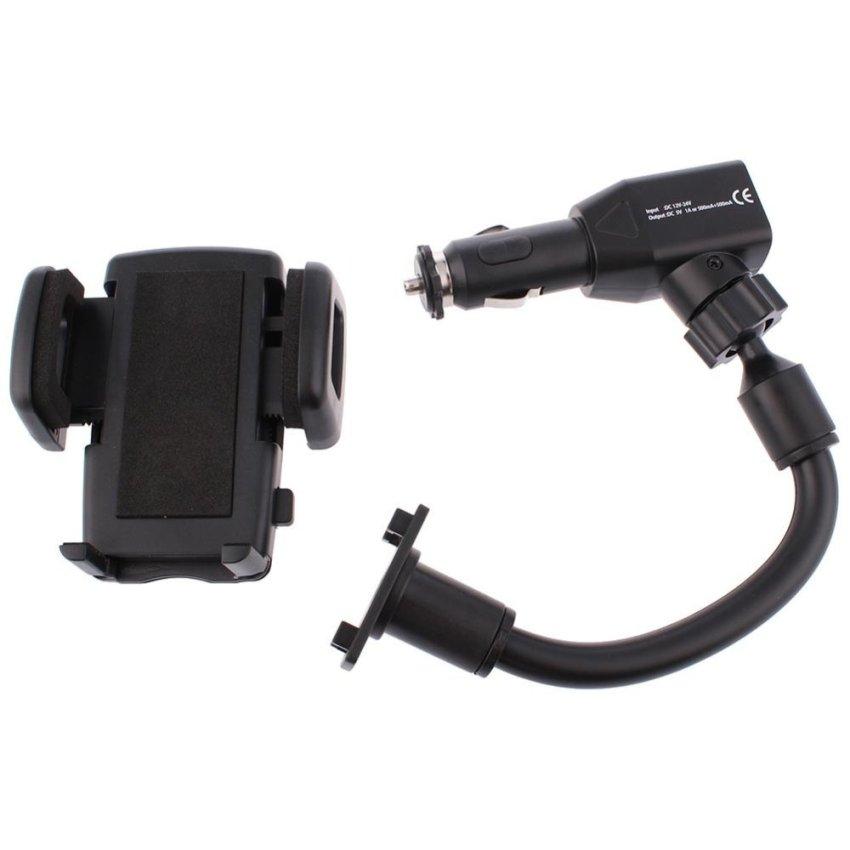 Dual USB car charger car phone holder (Intl)