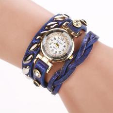 Duoya Femmes Mode Casual Bracelet En Cuir Montre-Bracelet Femmes Robe Blue Free Shipping