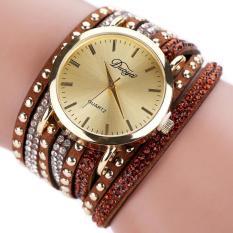 Duoya Femmes Mode Casual Bracelet En Cuir Montre-Bracelet Femmes Robe Coffee Free Shipping