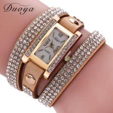 Duoya Femmes Mode Casual Bracelet En Cuir Montre-Bracelet Femmes Robe Khaki Free Shipping