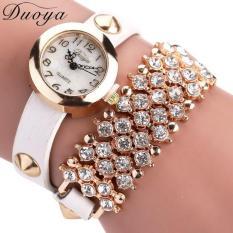 Duoya Femmes Mode Casual Bracelet En Cuir Montre-Bracelet Femmes Robe White Free Shipping