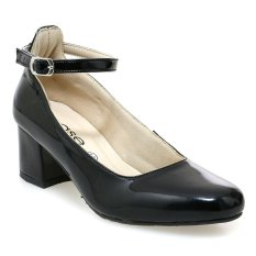 Ease Block Heel with Ankle Strap - Hitam